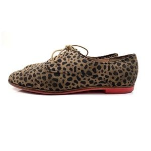 DOLCE VITA leather leopard lace up shoes
